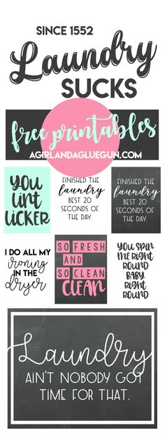 "free Laundry room printables! Who you calling a cootie queen ""you lint licker"". I'm making that one for the laundry room! Hehehe"