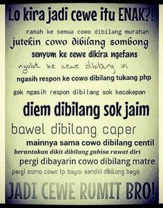 Memangnya enak jadi cewe? - #GambarLucu - http://www.galucu.com/pin/memangnya-enak-jadi-cewe/