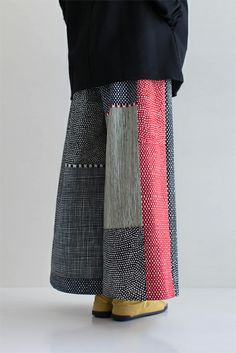SOU・SOU着衣 広形もんぺ(備前織) - 備前織の生地を使用したもんぺ