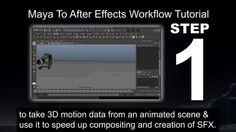 This is a video tutorial demonstrating how to transfer motion data from Autodesk Maya to Adobe After Effects and use this tool to accelerate production work and save render time.  Maya ASCII (.ma) is used as the main file format to transfer data between Maya and After Effects and can also be used to share motion capture data between many effects programs including PFTrack, PFMatchit, MatchMover, Nuke and many more.  This same process can be used with other 3D animation software such as 3ds…