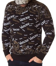 Versace Bluza Printed VRS AW2013 - Neagra | Bluze | Bluze | Brande Donatella Versace, Gianni Versace, Christopher Kane, Christmas Sweaters, Shirt Dress, Printed, Mens Tops, Shirts, Dresses