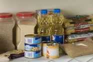 Three-Month Supply  food storage    Build a small supply of food that is part of your normal, daily diet. One way to do this is to purchase a few extra items each week to build a one-week supply of food. Then you can gradually increase your supply until it is sufficient for three months. These items should be rotated regularly to avoid spoilage.