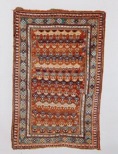 19th century Aimaq Baluch rug. Very rare design
