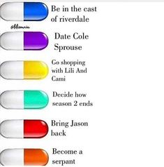 """Which pill would you take?"" Yellow if you could throw in a date with Dylan Sprouse"