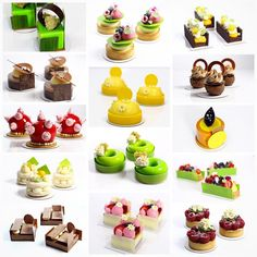 Some of my favorite petits gateaux and tarts from my class… Elegant Desserts, Beautiful Desserts, Fancy Desserts, Wedding Desserts, Just Desserts, Dessert Recipes, Gourmet Desserts, Pastry Recipes, Dessert Presentation