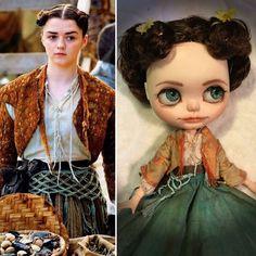 Custom Blythe Arya Stark Game Of Thrones Ooak Art doll Aria Bjd Action Figure