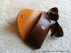 Items similar to hand stitched handmade brown cowhide leather sunglasses case on Etsy Leather Gifts, Leather Craft, Leather Bag, Leather Glasses Case, Pen Case, Leather Projects, Hand Stitching, Sunglasses Case, Coin Purse