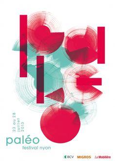 Affiche 2013 - Paléo Festival - Nyon - Switzerland