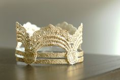 Gold Leaf Crown - newborn, child, adult photography prop by Lind O Designs Props
