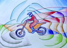 Drawing inspirerd by futurism