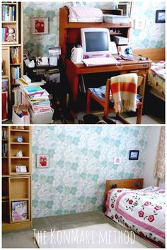 Using the #KonMariMethod detailed in The Life-Changing Magic of Tidying by Marie Kondo Before & after pix