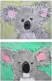 The Rolling Artroom: Pastel Koala Bears Grade) - Kunstunterricht - Zoo Classroom Art Projects, School Art Projects, Art Classroom, First Grade Art, 2nd Grade Art, Kindergarten Art, Preschool Art, Animal Art Projects, Art Lessons Elementary