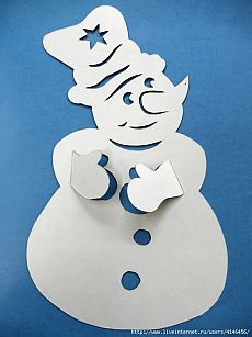 Stencils for kids Snowmen * *. Christmas Paper Crafts, Christmas Holidays, Christmas Ornaments, Hobbies And Crafts, Diy And Crafts, Crafts For Kids, Office Christmas Decorations, Ornament Box, Christmas Drawing