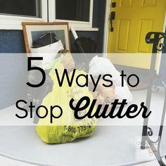 5 Ways to Stop Clutter:: OrganizingMadeFun.com