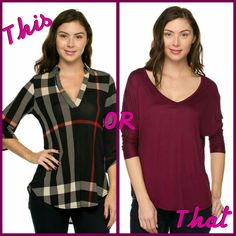 This or that Du North Designs Tops How do you choose??   http://www.dunorthdesigns.com/darling/pp2myfh