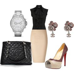 cute for work, created by spress1 on Polyvore