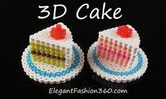 Hama/Perler Beads Cake 3D - How to Tutorial by Elegant Fashion 360
