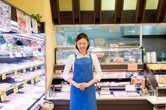 Portrait of store clerk at supermarket