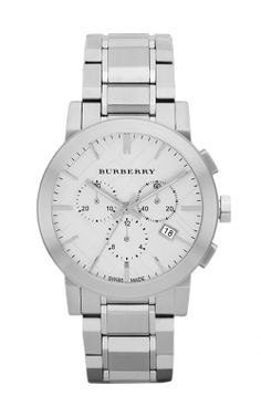 0420883b0f0 Burberry Watch, Men's Swiss Chronograph Stainless Steel Bracelet - Polished  and Brushed Stainless Steel Case Back Fitted with Screws - Sapphire Crystal  Face ...
