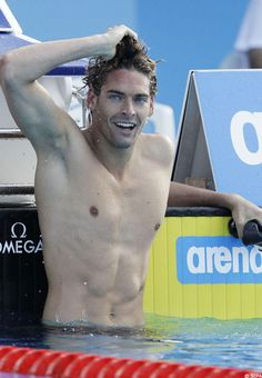 Camille Lacourt - is a French backstroke swimmer collected 3 gold medal at the European Championships in 2010