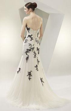 http://www.gfbridal.co.za black & white wedding dress