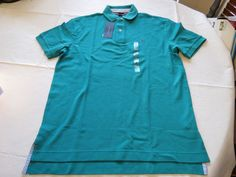 Mens Tommy Hilfiger Polo shirt S sm small solid NEW 7848710 Navigate 316 teal #TommyHilfiger #polo