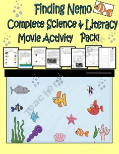 How can you make one over a Disney Pixar movie? Science Worksheets, Kindergarten Worksheets, Worksheets For Kids, Printable Worksheets, Printable Activities For Kids, Book Activities, Teaching Resources, Disney Activities, Earth Science Lessons