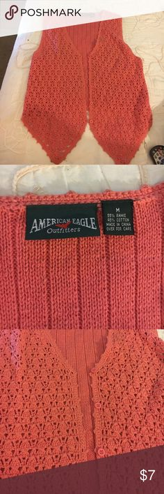 Womens American eagle vest Women's American eagle peach coloured vest American Eagle Outfitters Jackets & Coats Vests