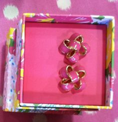 Lilly Pulitzer hot pink earrings
