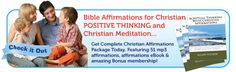 Bible Affirmation for Christian. Positive thinking and Christian Meditation.