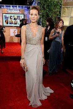 Kate Beckinsale in an embellished Elie Saab gown at the 2015 Golden Globes.