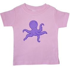 Inktastic Purple Octopus Baby T-Shirt Ocean Animal Vacation Summer T-shirt Infant Tees Shower Gift Clothing Apparel, Infant Boy's, Size: 12 Months, Pink