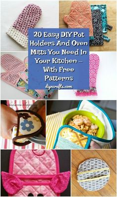 20 Easy DIY Pot Holders And Oven Mitts You Need In Your Kitchen – With Free Patterns Making your own potholders is easy and saves you a ton of money! Try some of these 20 Easy DIY Pot Crafts For Teens To Make, Crafts To Sell, Easy Crafts, Easy Diy, Simple Diy, Diy And Crafts Sewing, Easy Sewing Projects, Sewing Tips, Sewing Hacks