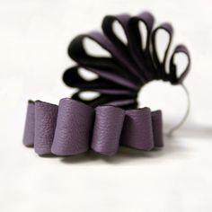 Loop Hoop Earrings Purple. $38.00, via Etsy.