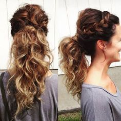 Prachtige paardenstaarten met vlechten! 15 prachtige kapsels voor lang haar! - Kapsels voor haar