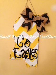 Usm Go Eagles Mississippi State Silhouette Usm by SouthernDoorSass, $35.00