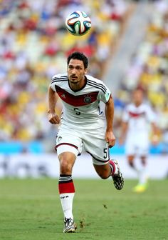 Mats Hummels of Germany controls the ball during the 2014 FIFA World Cup Brazil Group G match between Germany and Ghana at Castelao on June 21 2014...
