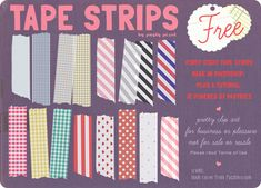 Free Photoshop download: tape strips.