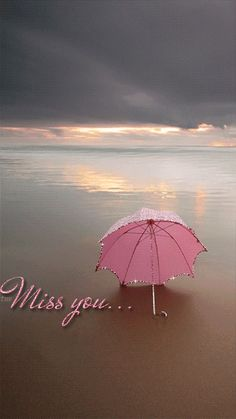 Miss You umbrella on the beach Animation Miss U My Love, Miss You Mom, Miss You Images, Love Images, Filly, I Miss You Wallpaper, Fotografia Tutorial, Happy Sunday Quotes, I Miss You Quotes