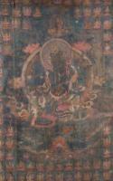 Thangka depicting Green Tara Tibet, 17th-18th Century