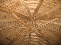 Round wood timber framing