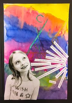 Please Note: All images seen below are of my students artwork only. These photos/lessons are not posted in any particular order regarding the flow of my curriculum. Abstract Self-Portrait Paintings…