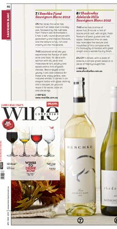 It may be autumn but our Fumé Sauvignon Blanc is perfect for drinking right now! Fermented in New French Oak and with less than 1% sugar it allows you to experience both the flavours of your food and wine.  FEATURED IN @Wine Companion in April-May 2014 issue, out now!  www.reschke.com.au