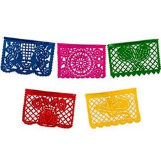Our Large Multicolor Plastic Picado Banner is a must-have for a Fiesta or Cinco de Mayo. This plastic picado banner has panels of multicolor sheets with Mexican Birthday Parties, Mexican Fiesta Party, Fiesta Theme Party, Party Themes, Party Ideas, Taco Party, Party Party, Birthday Bash, Mexican Party Supplies