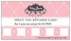 Spray Tan Loyalty cards :)