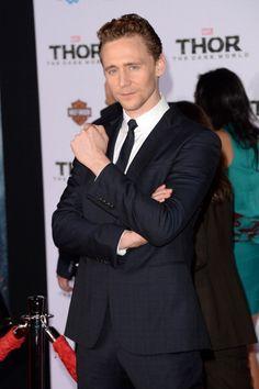 Tom Hiddleston at the LA Premiere of 'Thor: The Dark World' on November 4, 2013