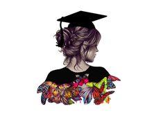 AlF MbROOHK Graduation Images, Graduation Diy, Graduation Invitations, Graduation Drawing, Graduation Wallpaper, Medical Wallpaper, Girly M, Girly Drawings, Graduation Photography
