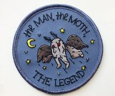 the WV mothman! Cool Patches, Pin And Patches, Jacket Patches, M Jack, Mothman, Doja Cat, Cryptozoology, Cool Pins, Embroidery Patches
