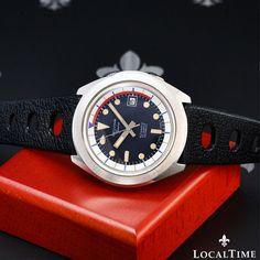 January 1973 DELVINA Super Compressor Vintage Dive Watch Automatic ETA Cal. 2783
