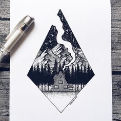 You'll need to stop for a second and appreciate the detail, ideas, creative mind and brilliant composing vision of super talented Josefine Svärd. Swedish illustrator's stippling art inspired by the… Dotted Drawings, Cool Art Drawings, Pencil Art Drawings, Art Drawings Sketches, Drawing Art, Pen Illustration, Ink Illustrations, Tatto Ink, Stylo Art